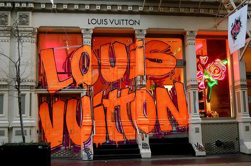 Unique Louis Vuitton Graffiti - on a premier store