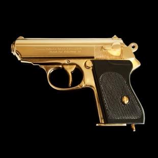 24ct gold plated james bond gun