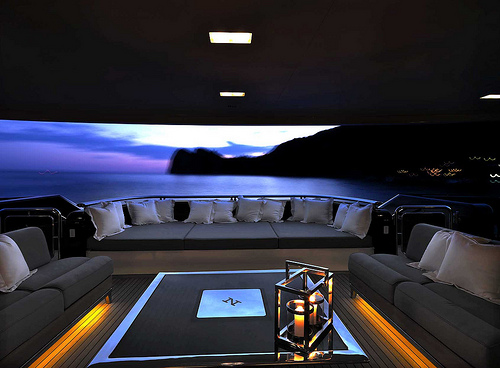 luxury boat view