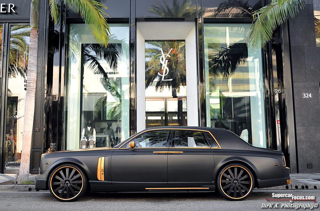 Boss Status Matt Black Amp 24ct Gold Rolls Royce Phantom
