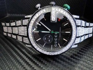 Mens diamond gucci watch