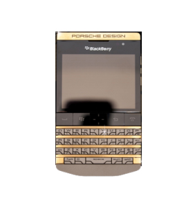 gold plated blackberry porsche