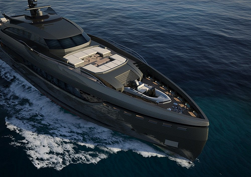 Millionaire Boating Jet Black Stealth Luxury Cruiser Wow