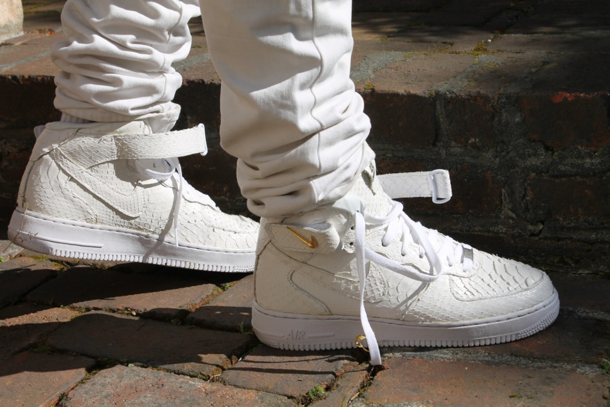 Crocodile skin nike air force one