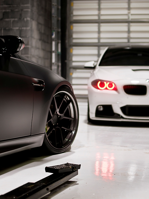 bmw red angel eyes