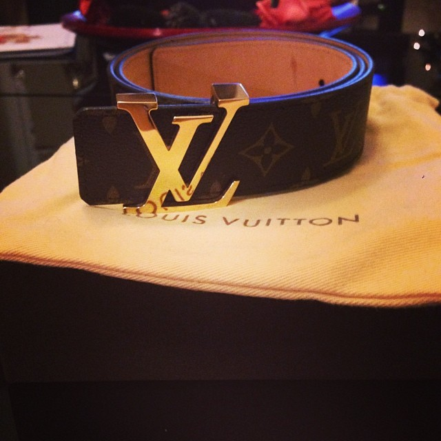 gold louis vuitton belt custom