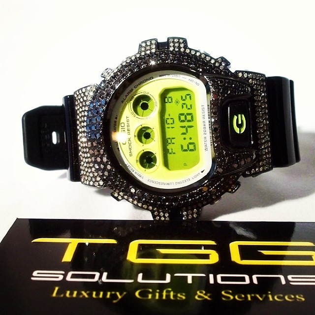 Custom Mens Diamond Casio G shock watch
