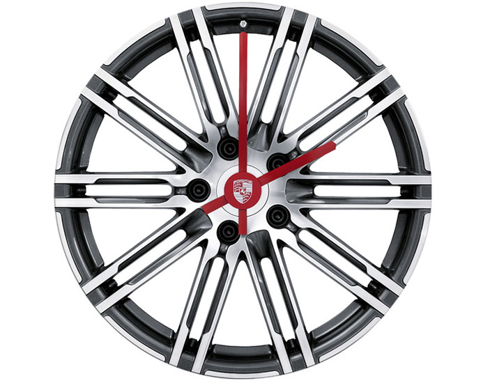 porsche-911-turbo-wheel-rim-clock