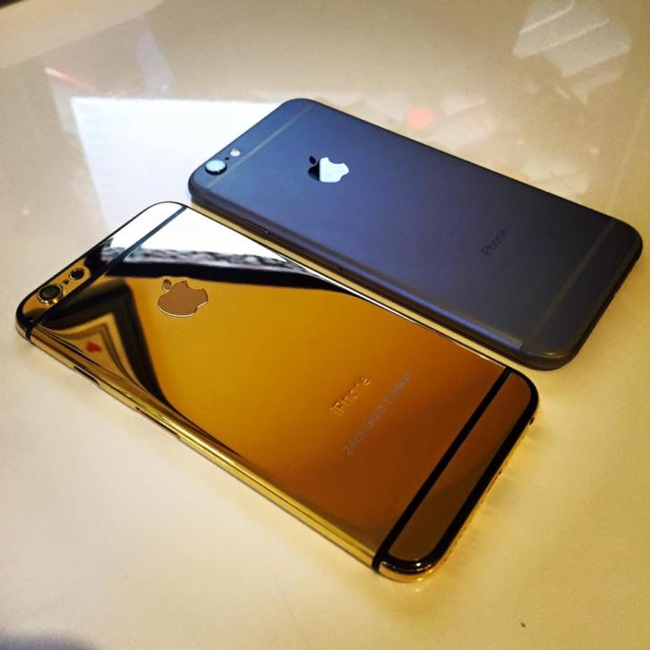 24kt gold plated iPhone 6
